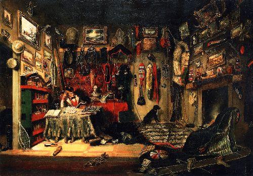 An Officers Room in Montreal | Cornelius Krieghoff | oil painting