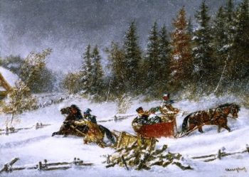 A Winter Incident | Cornelius Krieghoff | oil painting