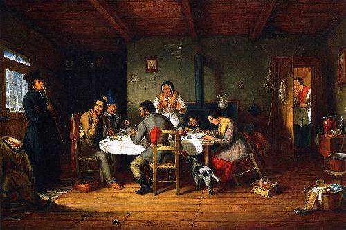 Breaking Lent | Cornelius Krieghoff | oil painting