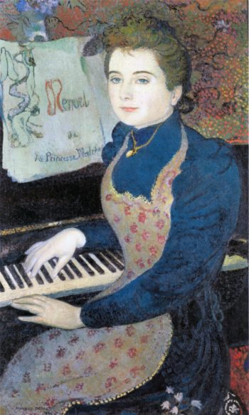 Marthe at the piano | Maurice Denis | oil painting
