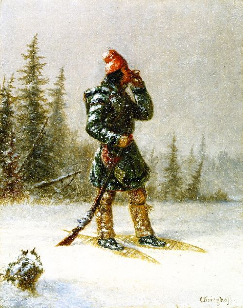 Calling the Moose | Cornelius Krieghoff | oil painting