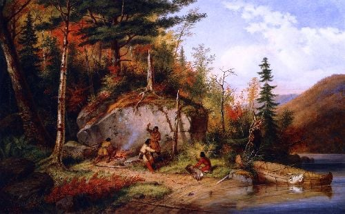 Canadian Autumn View on the Road to Lake St John | Cornelius Krieghoff | oil painting