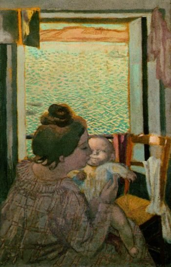 Motherhood at the Window | Maurice Denis | oil painting