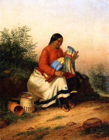 Caughnawaga Woman and Baby | Cornelius Krieghoff | oil painting