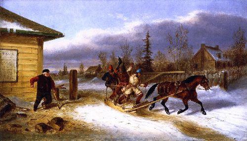 Cheating the Toll Man | Cornelius Krieghoff | oil painting