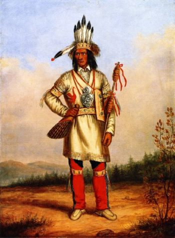 Chief Tanaghte Delegate to Lord Elgin at Montreal | Cornelius Krieghoff | oil painting