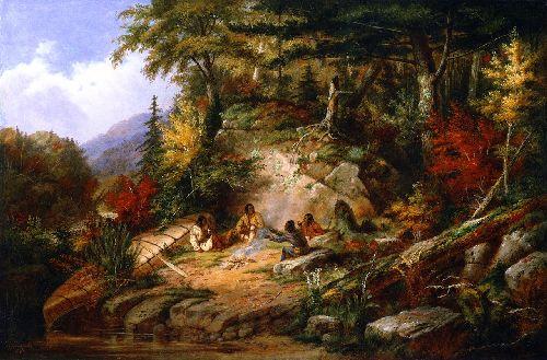 Chippewas on Lake Superior | Cornelius Krieghoff | oil painting