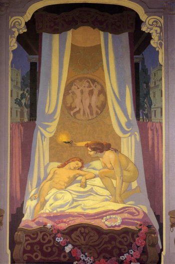 Psyche Discovers That Her Secret Lover Is Cupid | Maurice Denis | oil painting