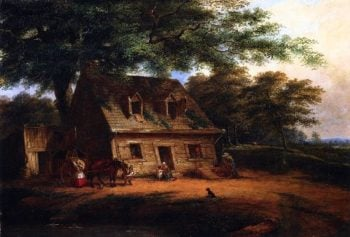 Cottage St Anne | Cornelius Krieghoff | oil painting