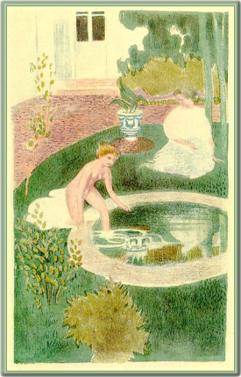 Reflection In A Fountain | Maurice Denis | oil painting