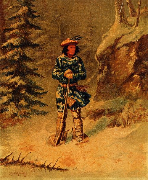 Doubt of Track Iroquois Indian | Cornelius Krieghoff | oil painting