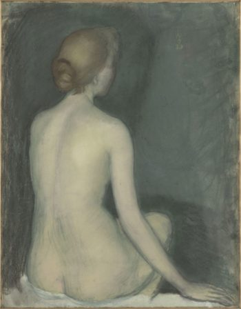 Seated nude woman seen from behind | Maurice Denis | oil painting