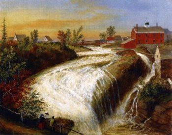 Falls of Lorette near Quebec | Cornelius Krieghoff | oil painting