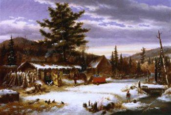 Habitant Returning from Market | Cornelius Krieghoff | oil painting