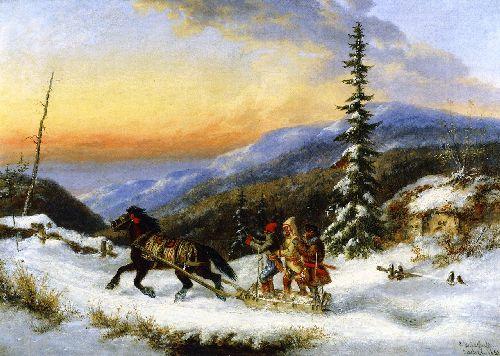 Habitants on a Trip to Town   Cornelius Krieghoff   oil painting
