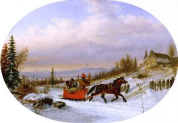 Habitants Returning from Town | Cornelius Krieghoff | oil painting