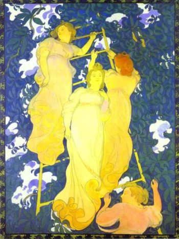 The Ladder in the Foliage | Maurice Denis | oil painting