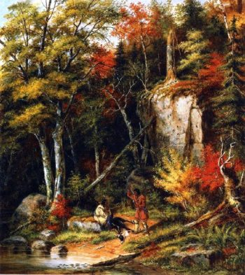 Indian Hunters on the St Maurice River | Cornelius Krieghoff | oil painting