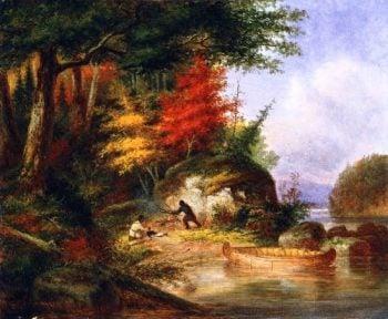 Indian Hunters | Cornelius Krieghoff | oil painting