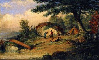 Indians Dancing | Cornelius Krieghoff | oil painting