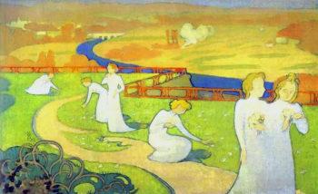 The Seasons Series April | Maurice Denis | oil painting