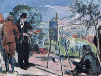 The Visit to Cezanne | Maurice Denis | oil painting