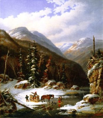 In the Jardin de Caribou 59 Miles below Quebec | Cornelius Krieghoff | oil painting
