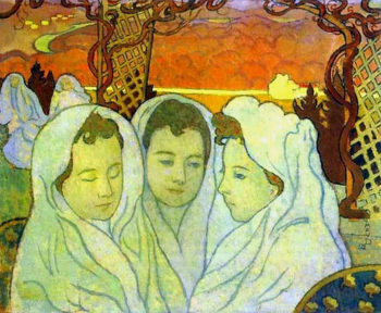 Triple Portrait of Marthe | Maurice Denis | oil painting