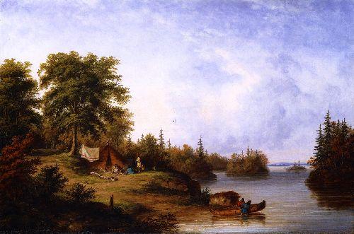 In the Thousand Island   Cornelius Krieghoff   oil painting