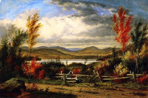 Lac Laurent Autumn   Cornelius Krieghoff   oil painting