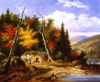 Lake Memphremagog | Cornelius Krieghoff | oil painting