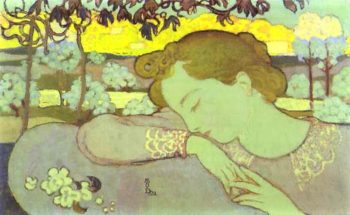 Young girl asleep | Maurice Denis | oil painting