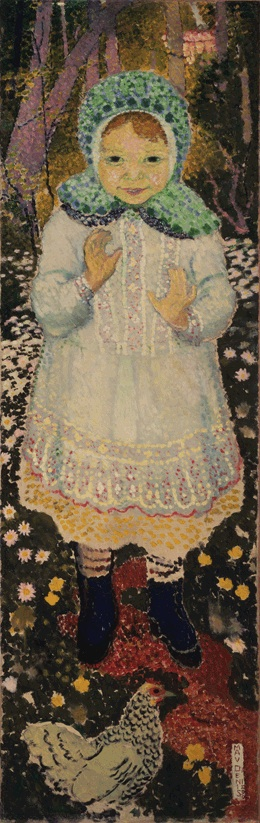 Young Girl with a Hen | Maurice Denis | oil painting