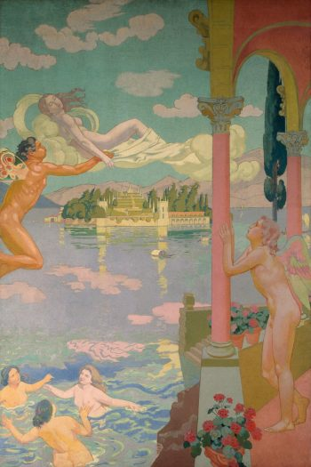 Zephyr Transporting Psyche to the Island of Delight | Maurice Denis | oil painting