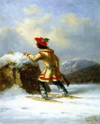 Lorette Caribou Hunter | Cornelius Krieghoff | oil painting