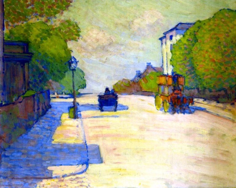 Adelaide Road in Sunlight   Robert Bevan   oil painting