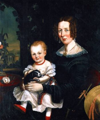Margaret Erskine Williamson and Her Daughter Jessie | Cornelius Krieghoff | oil painting