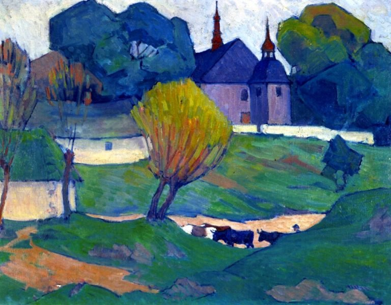 A Polish Church Mydlow | Robert Bevan | oil painting