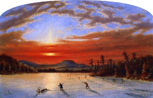 On Lake Laurent   Cornelius Krieghoff   oil painting