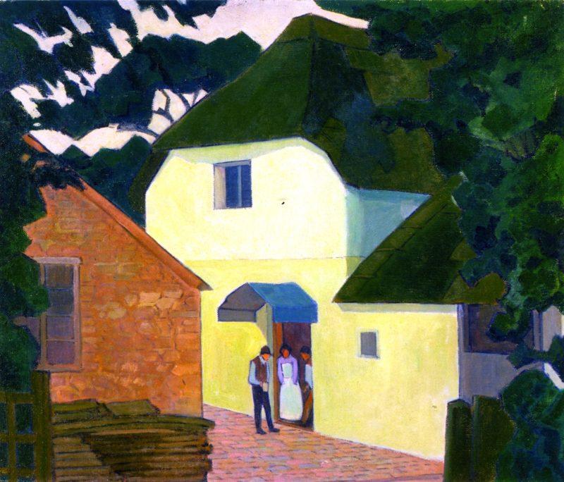Caller at the Mill | Robert Bevan | oil painting