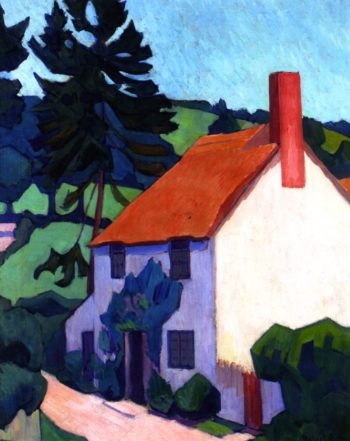 Devon Cottage | Robert Bevan | oil painting