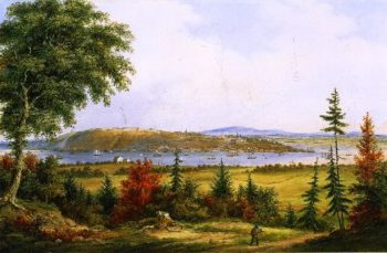Quebec from Pointe Levis | Cornelius Krieghoff | oil painting