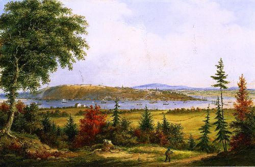 Quebec from Pointe Levis | Cornelius Krieghoff | oil painting