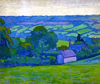 Devonshire Valley No 2 | Robert Bevan | oil painting