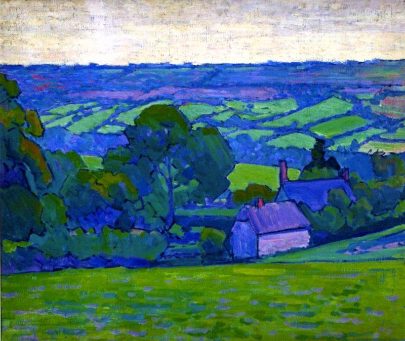 Devonshire Valley No 2   Robert Bevan   oil painting