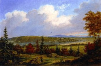 Quebec Viewed from Pointe Levis | Cornelius Krieghoff | oil painting