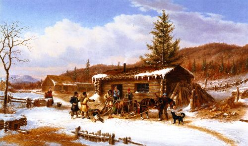 Return from the Hunt | Cornelius Krieghoff | oil painting