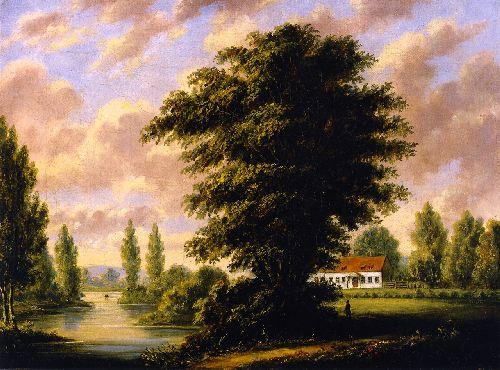Seigneury at Sainte Anne de la Perade   Cornelius Krieghoff   oil painting