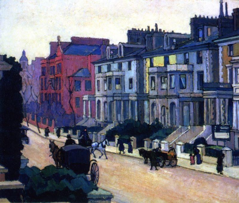 From the Artist's Window   Robert Bevan   oil painting