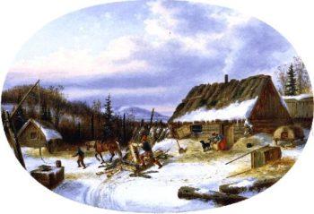 Settlers House | Cornelius Krieghoff | oil painting